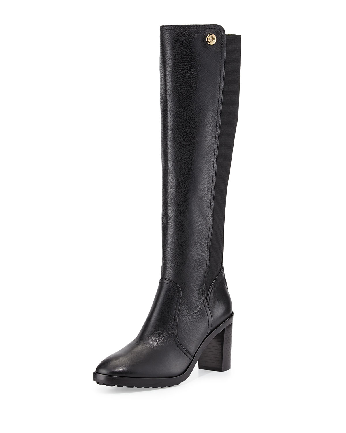 05a6bf80ddec Lyst - Tory Burch Sullivan Stretch-Back Knee Boots in Black