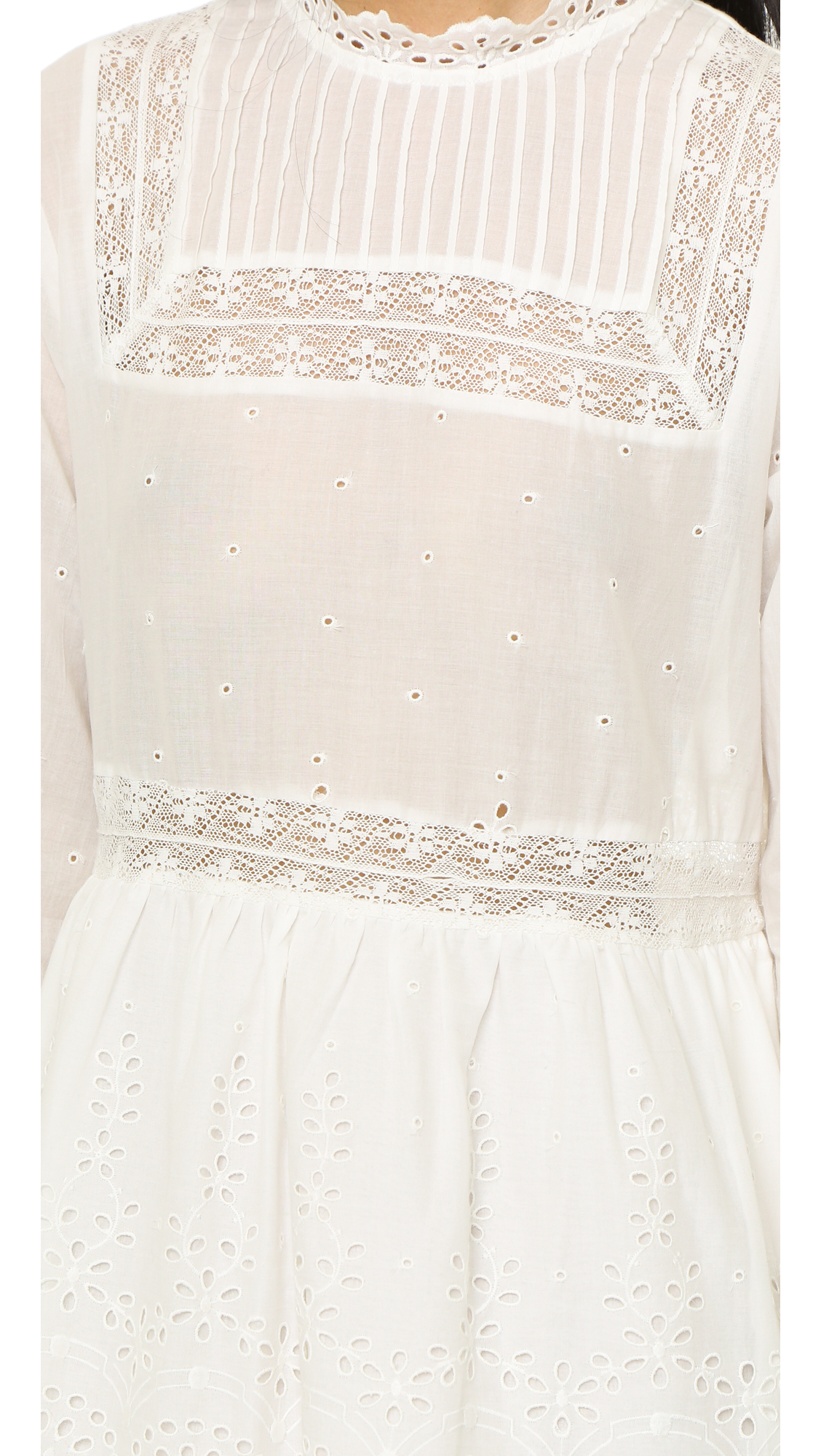 736c0f42846b Lyst - Sea Eyelet Lace Combo Dress - Navy in White