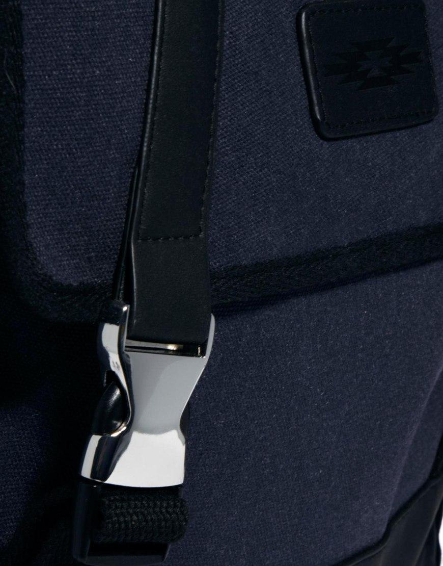 Lyst Asos Tech Backpack In Blue For Men Tendencies Back Pack Arcus Navy Gallery