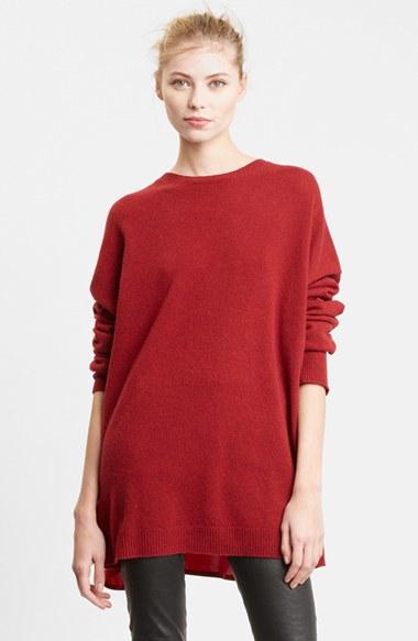 lyst haider ackermann silk cashmere sweater in red. Black Bedroom Furniture Sets. Home Design Ideas