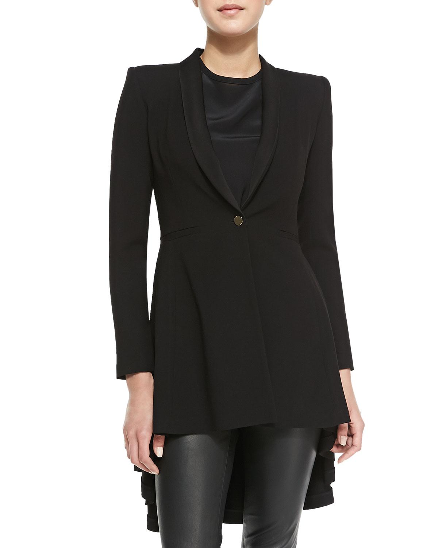 Long Black Sweater Duster