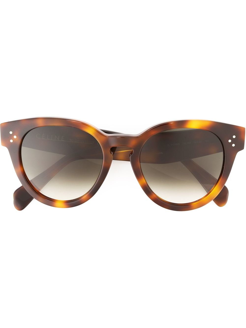 Celine Preppy Sunglasses  céline thin preppy sunglasses in brown lyst