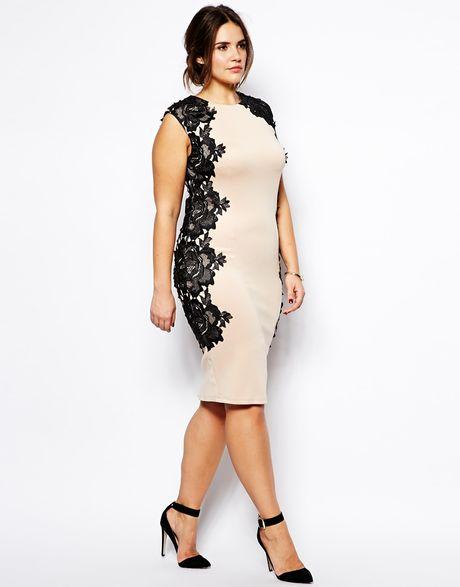 Beige Lace Dress Plus Size Plus Size Bodycon Dress