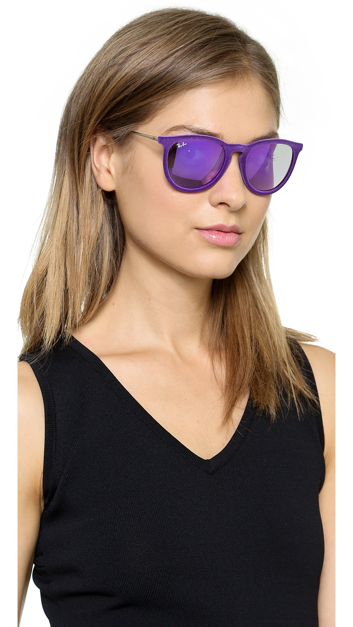 Lyst Ray Ban Erika Velvet Sunglasses Violet In Purple
