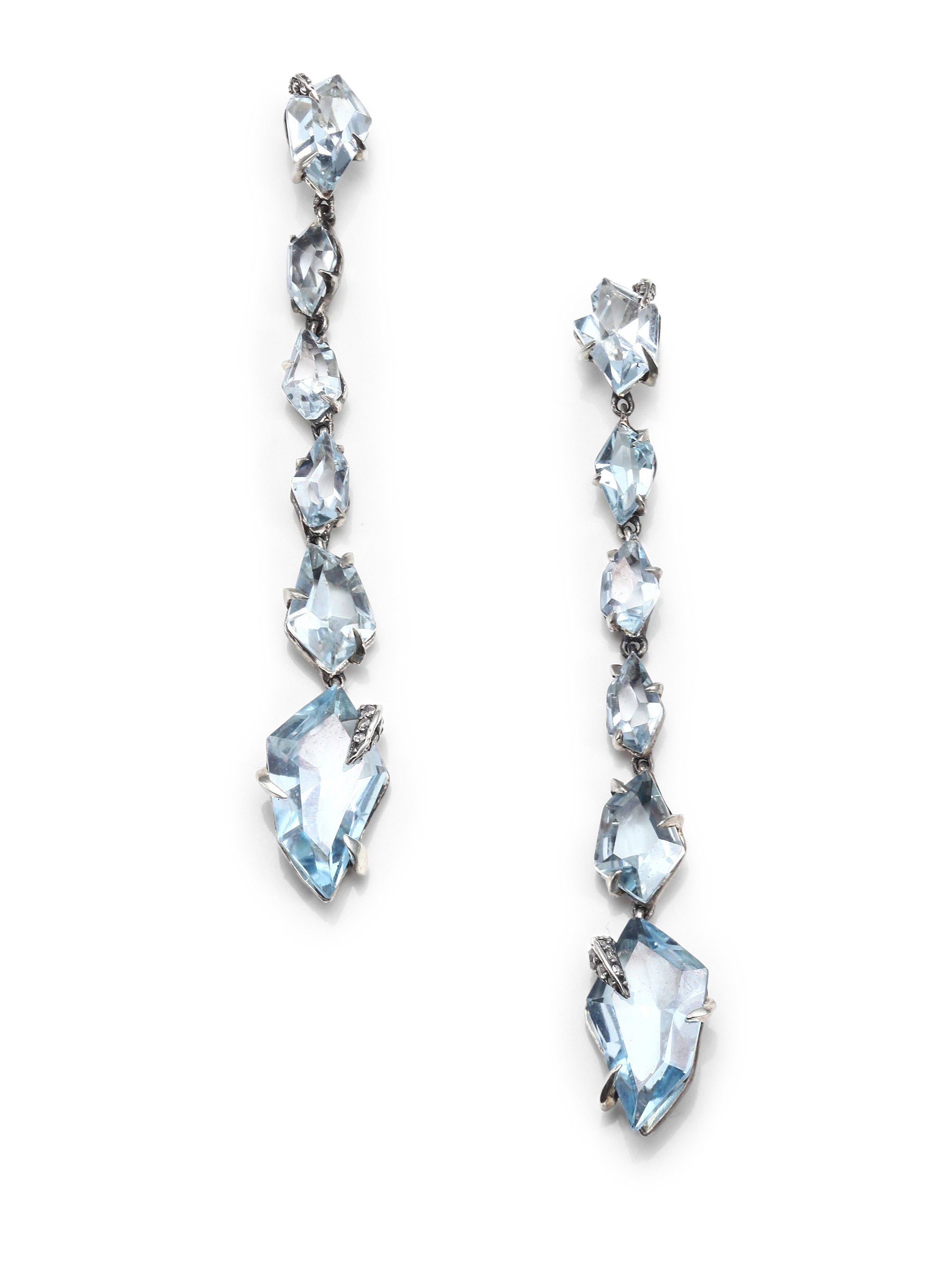 Alexis bittar fine Silver Lake Marquis Blue Topaz Diamond