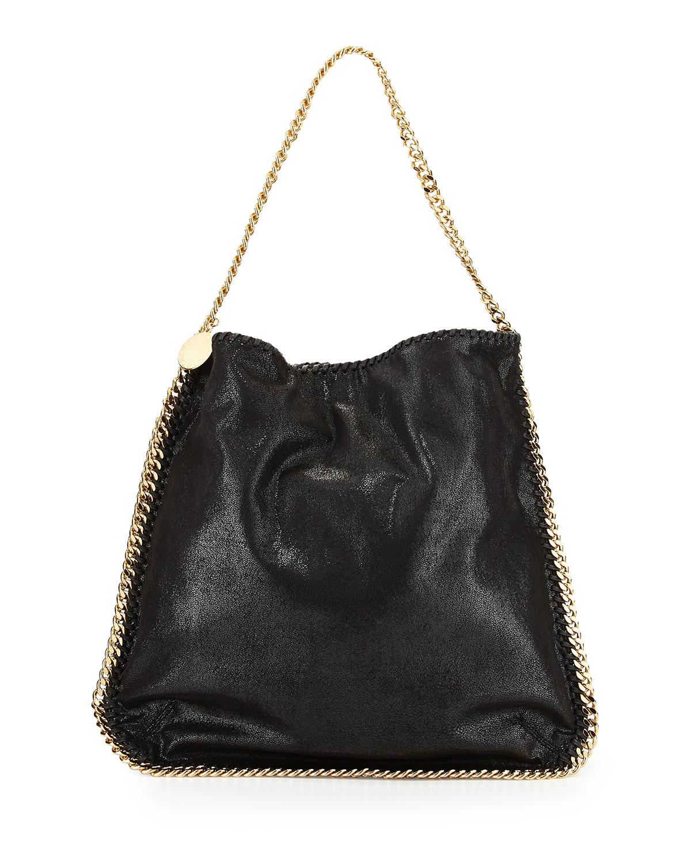 stella mccartney faux leather hobo bag in black lyst. Black Bedroom Furniture Sets. Home Design Ideas