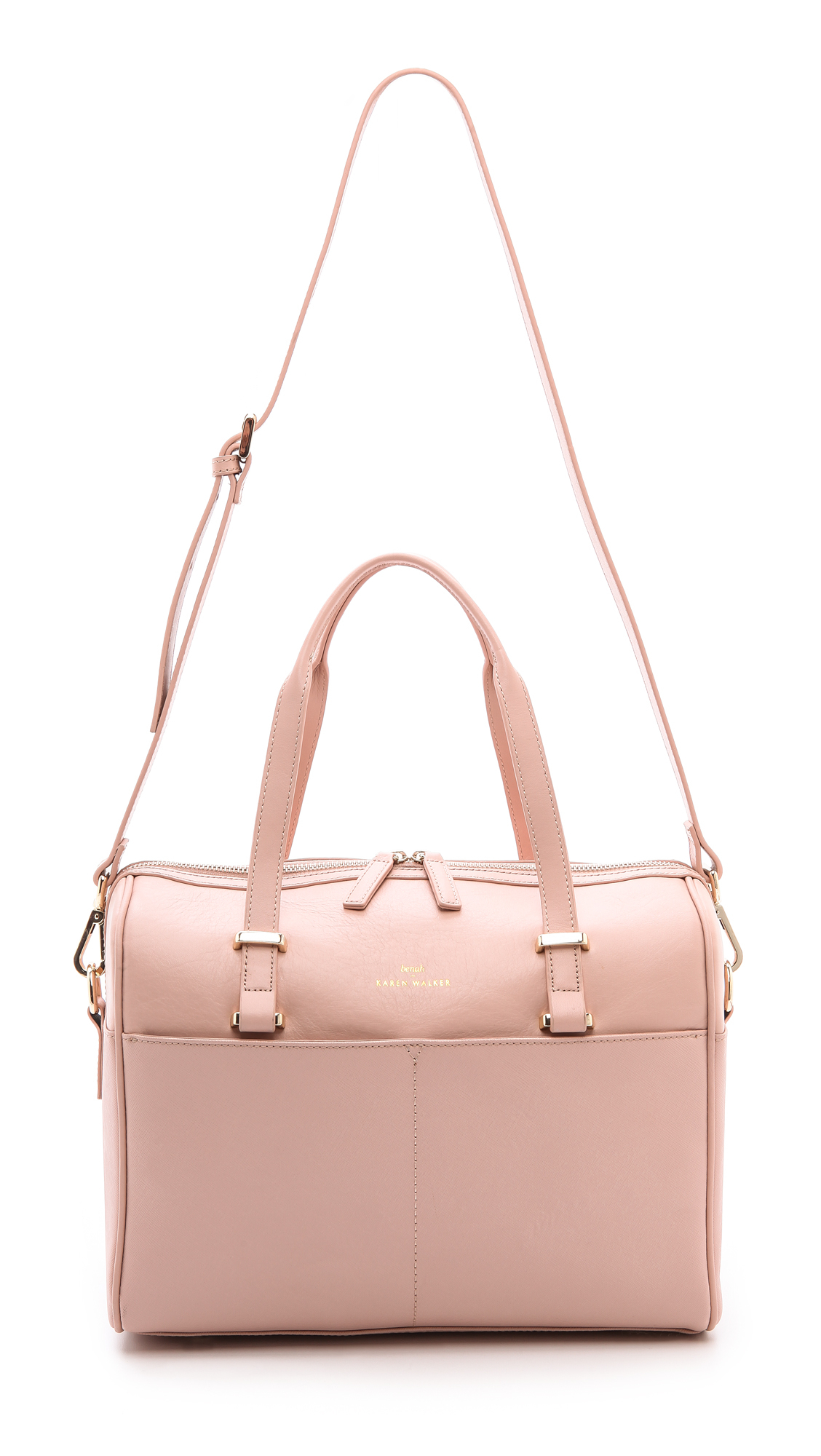 5a0ef6a942f5 Lyst - Karen Walker Benah For Andie Medium Duffel Navy in Pink