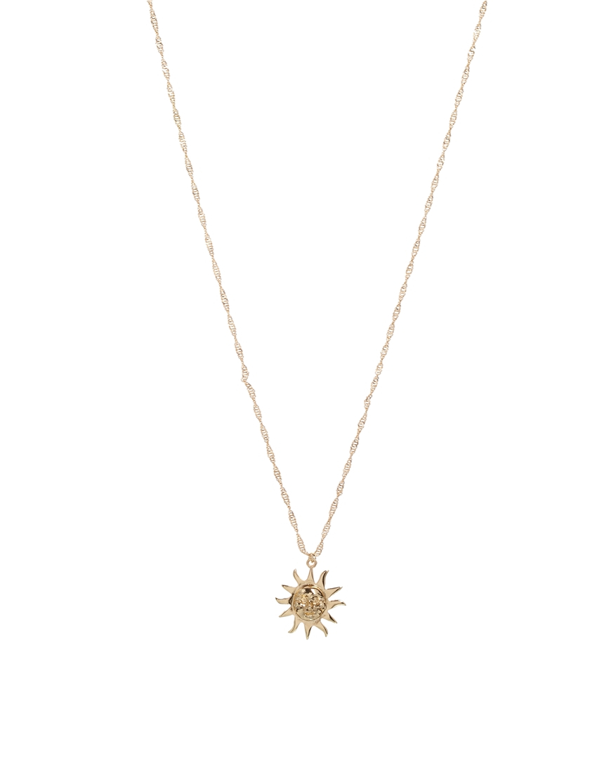 pendant golden sun necklace with