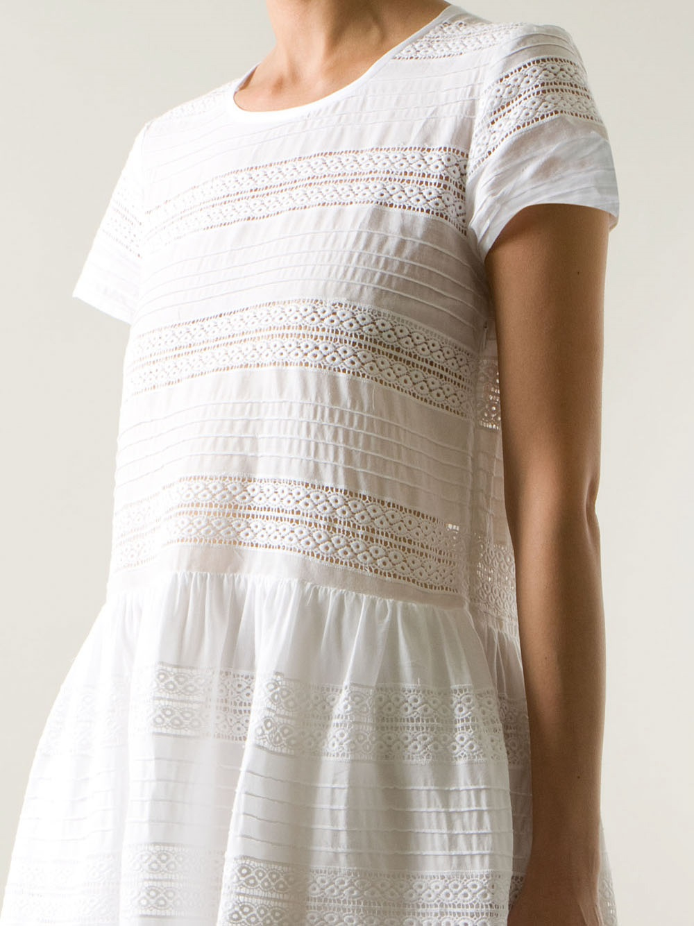 Sea Broderie Anglaise Shift Dress In White Lyst