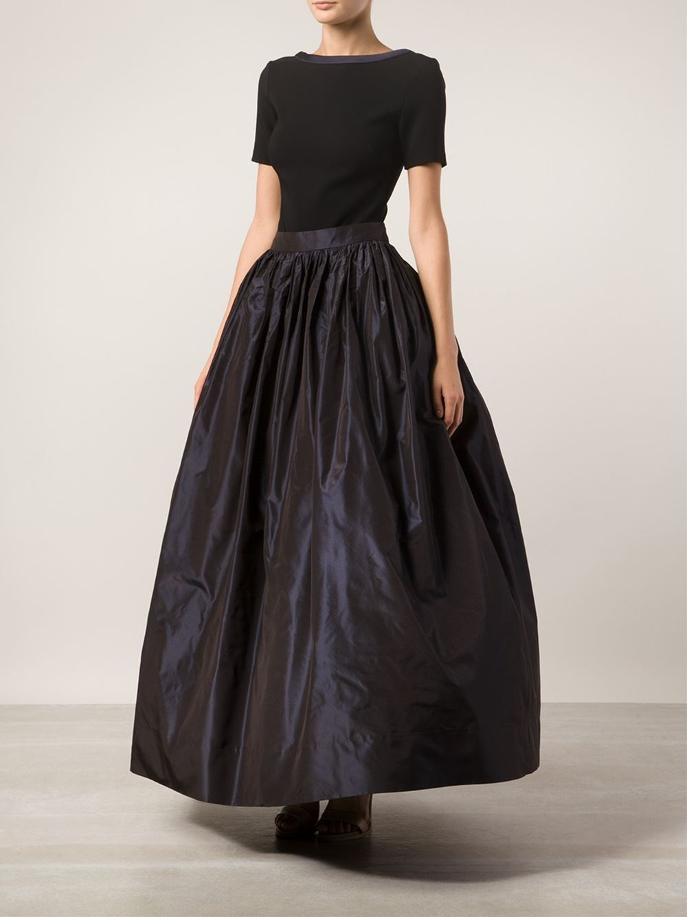 Martin grant Long Taffeta Skirt in Blue | Lyst