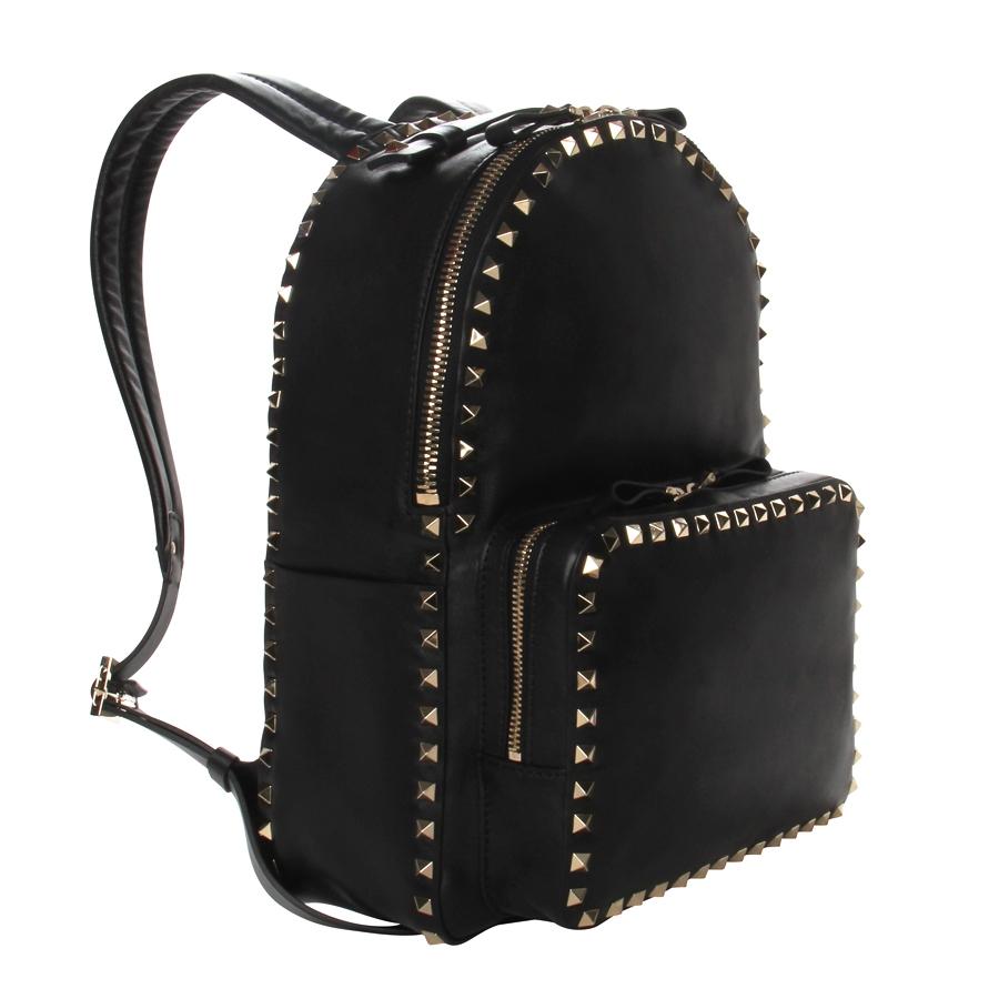 5a7457de96 Valentino Rockstud Mini Backpack in Black - Lyst
