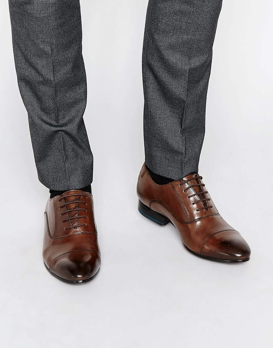 Lyst Ted Baker Danyll Toe Cap Oxford Leather Shoes In