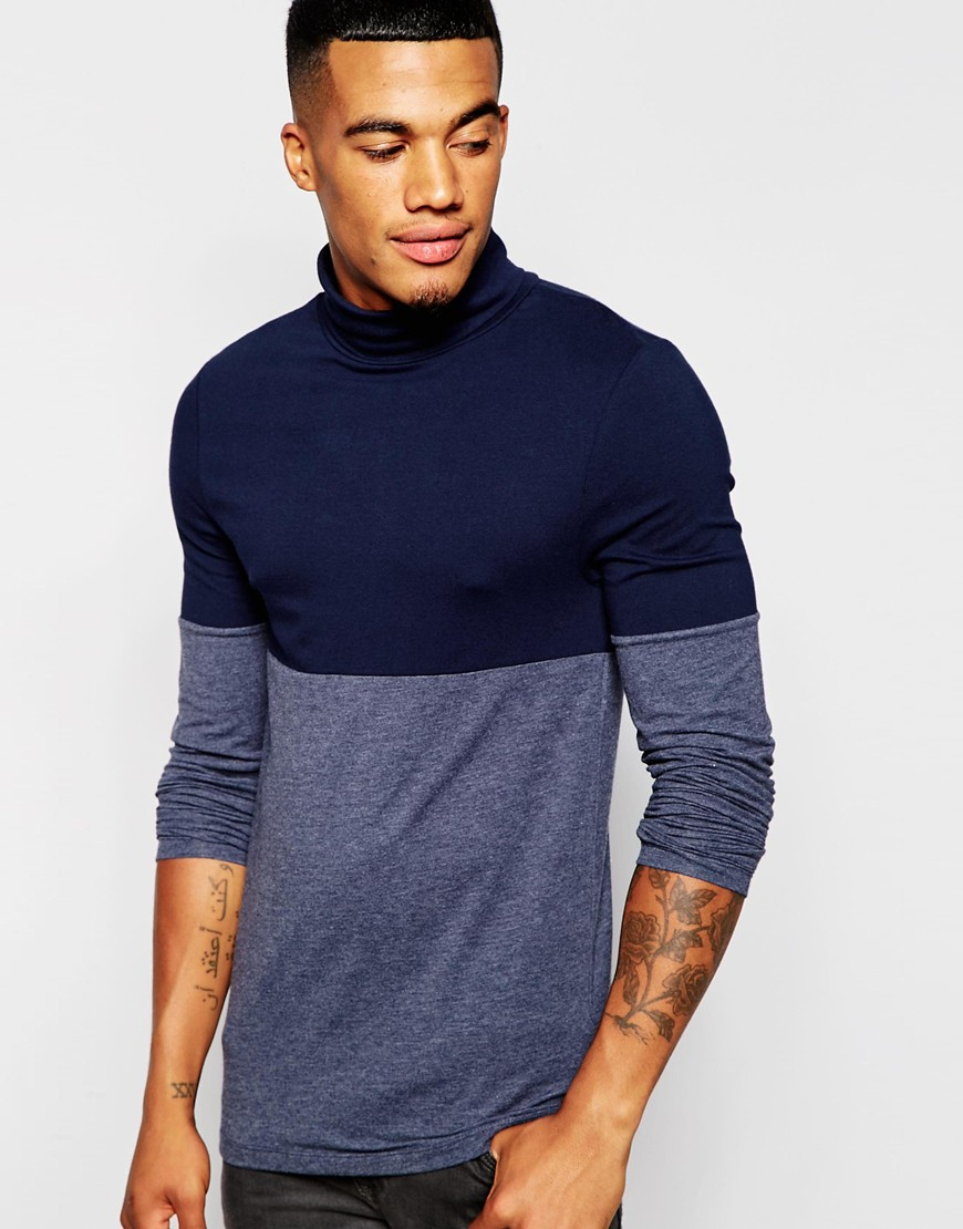 ddce8669b8 T Shirt Lyst Lyst With Sleeve Muscle And Extreme Neck Long Asos Roll  w7RqRg6X
