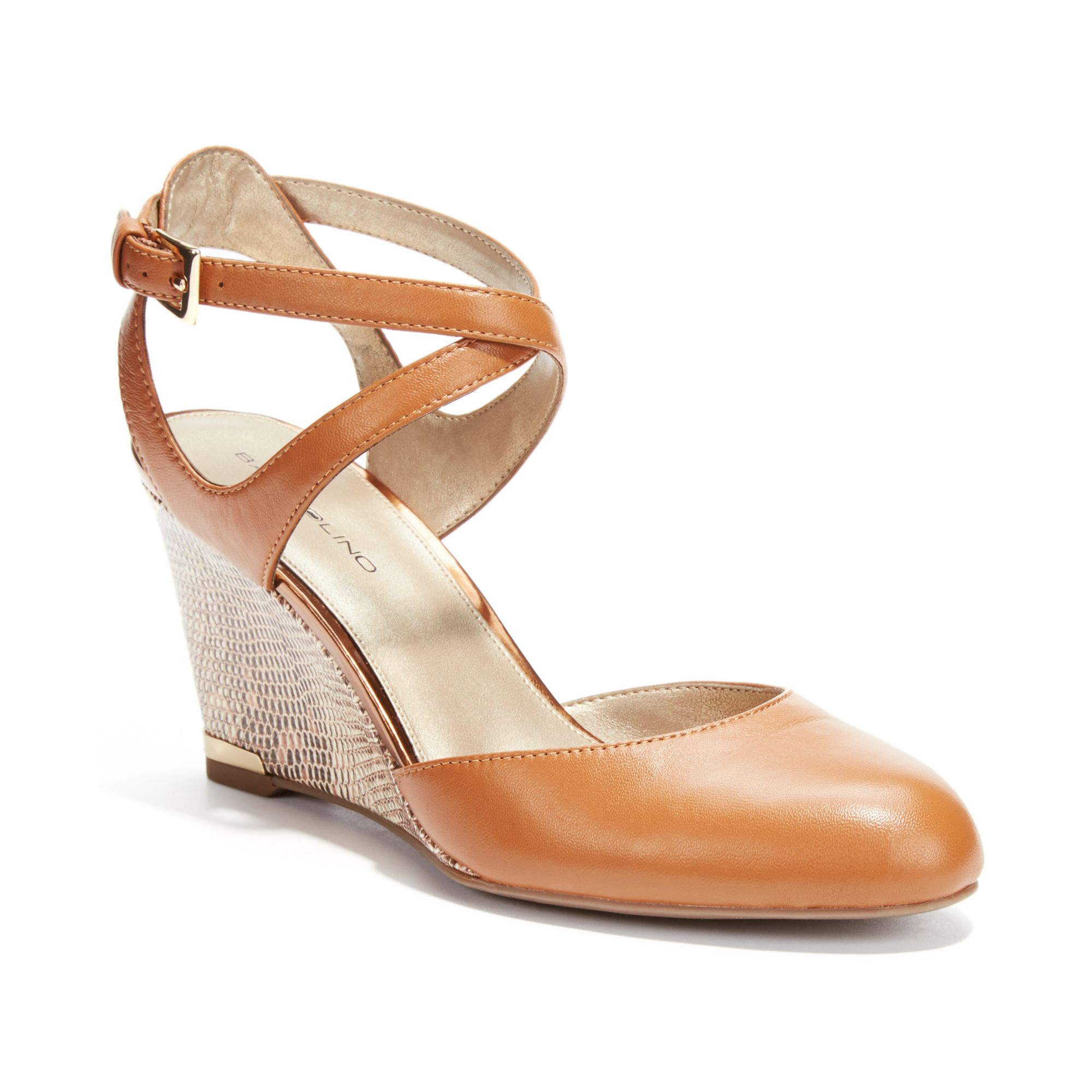Lyst Bandolino Tania Wedge Pumps In Brown