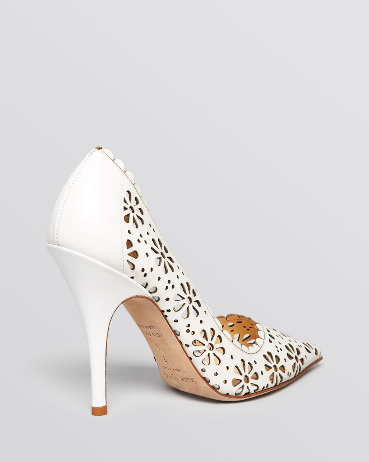 outlet excellent clearance choice Kate Spade New York Perforated Pointed-Toe Pumps huge surprise cheap price outlet explore find great sale online JnZMArm