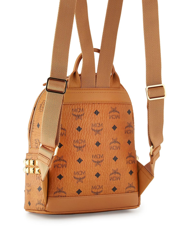 bd87df9af8c Lyst - MCM Stark Side Stud Mini Backpack in Brown