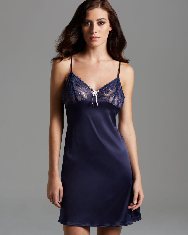 lyst elle macpherson beach babe open back chemise in blue. Black Bedroom Furniture Sets. Home Design Ideas
