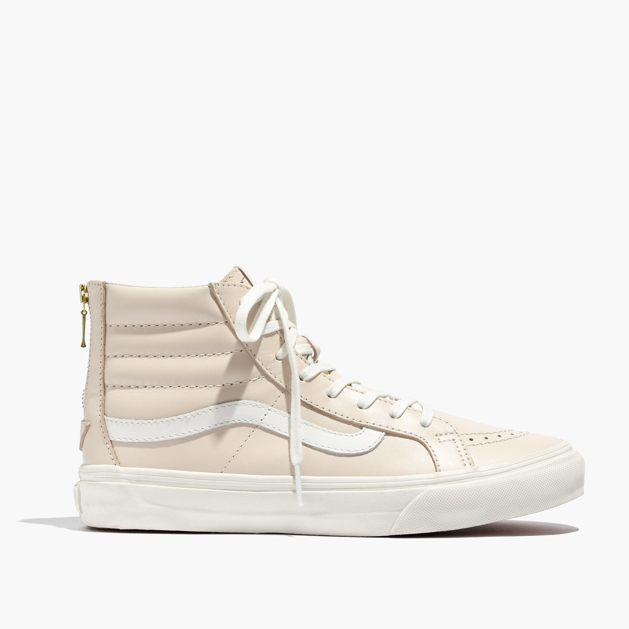beige vans high top