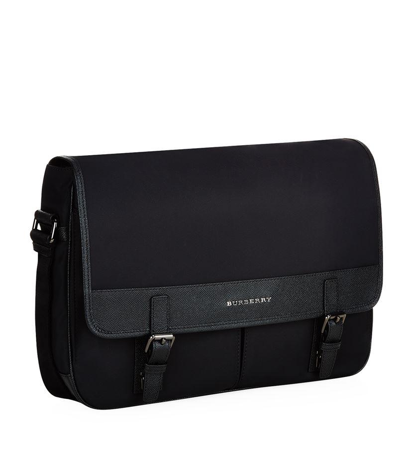 58936154bce9 Burberry Fairbank Messenger Bag in Black for Men - Lyst