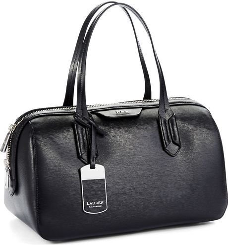 Lauren By Ralph Lauren Dual Handled Barrel Tote in Black - Lyst