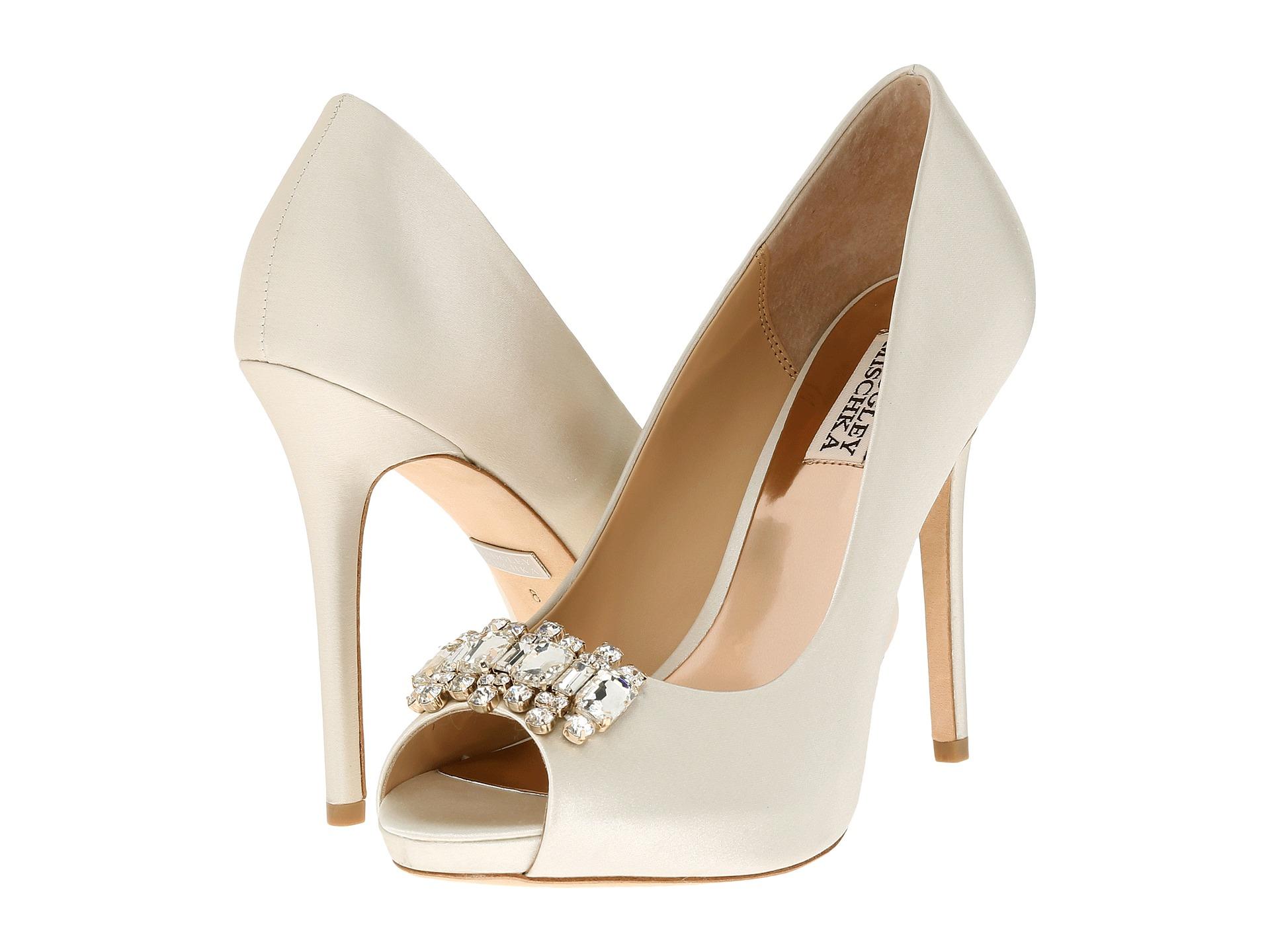 Womens Shoes Badgley Mischka Alter Ivory Satin