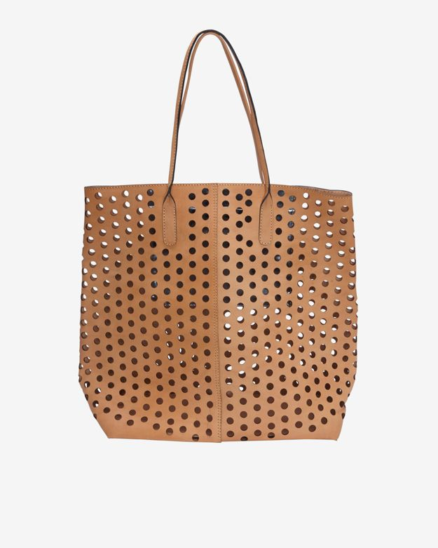 Rachel Comey Hole Punched Leather Tote Tan In Natural Lyst