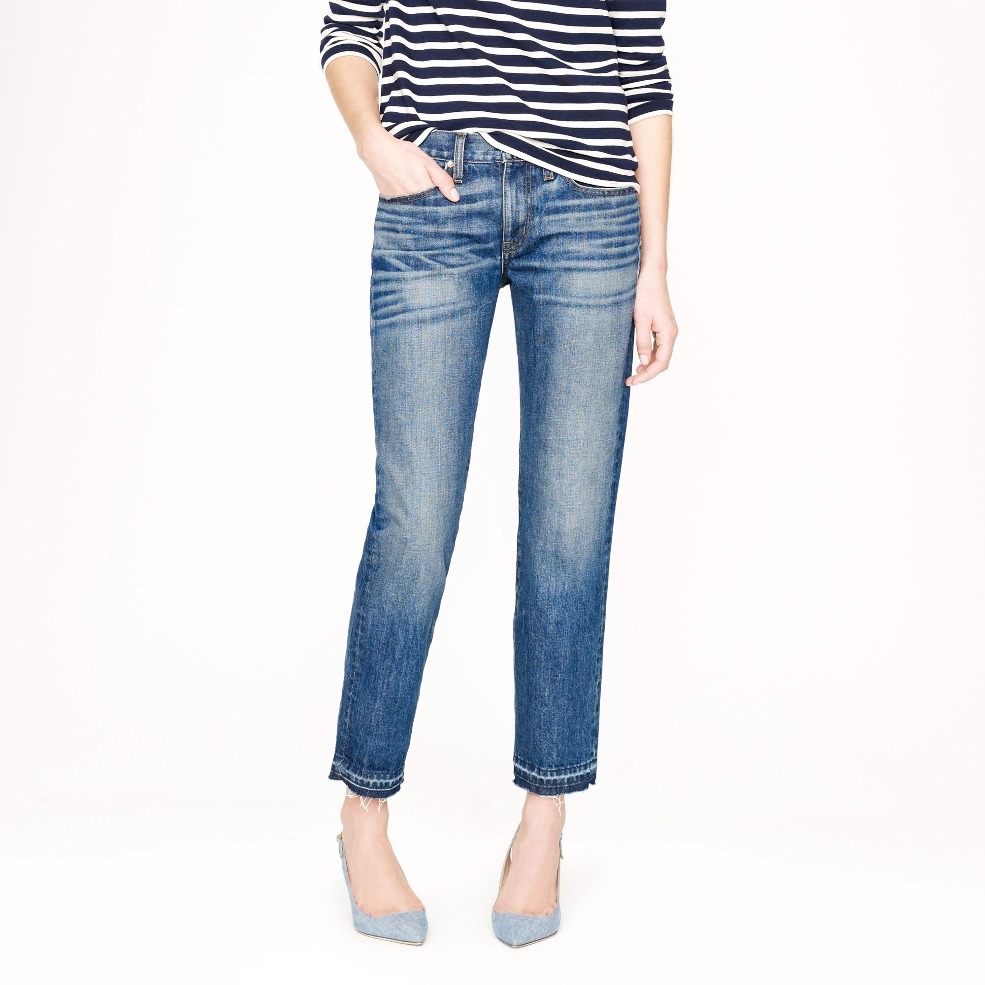 J.crew Point Sur Vintage Cropped Jean In Griffin Wash in Blue | Lyst