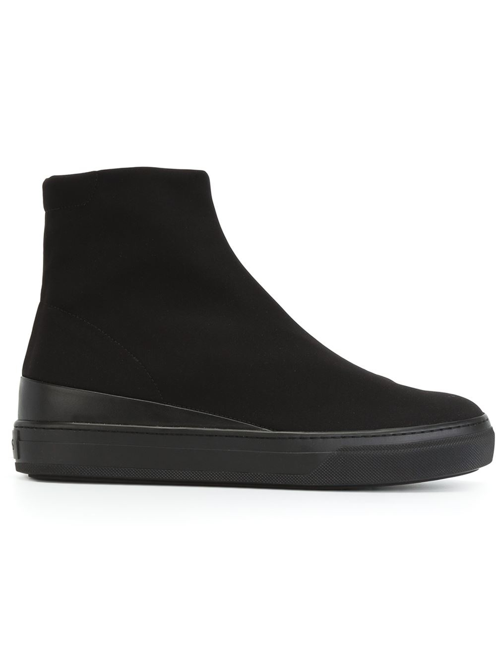 Todu0026#39;s Flat Rubber-Sole Boots In Black | Lyst