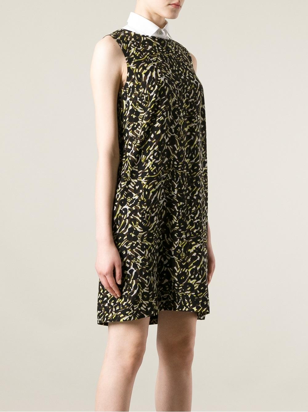 Lyst M Missoni Leopard Print Dress In Red