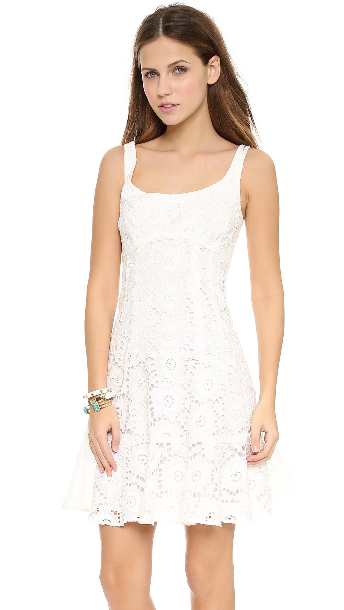 Nanette lepore Summer Sheath Dress Coral in White  Lyst