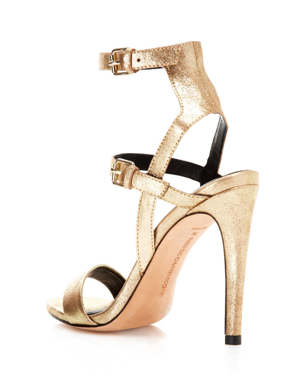 Metal Ankle Strap Heels