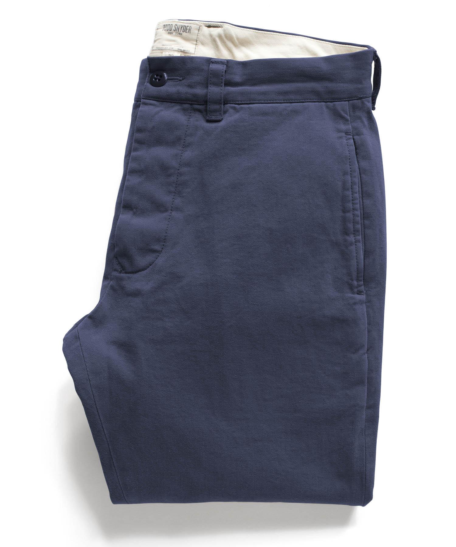 Todd snyder Navy Selvedge Officer Pant in Blue for Men ...