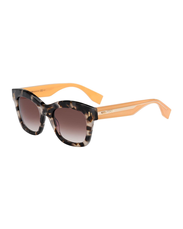 0ed967ce77232 Fendi Round Sunglasses With Pearls
