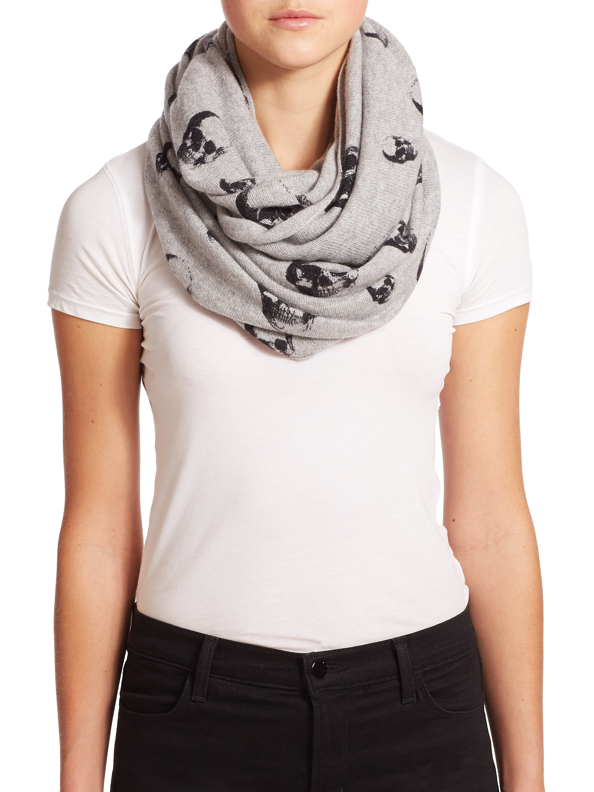 october bendel obsessions henri scarf cashmere infinity pin