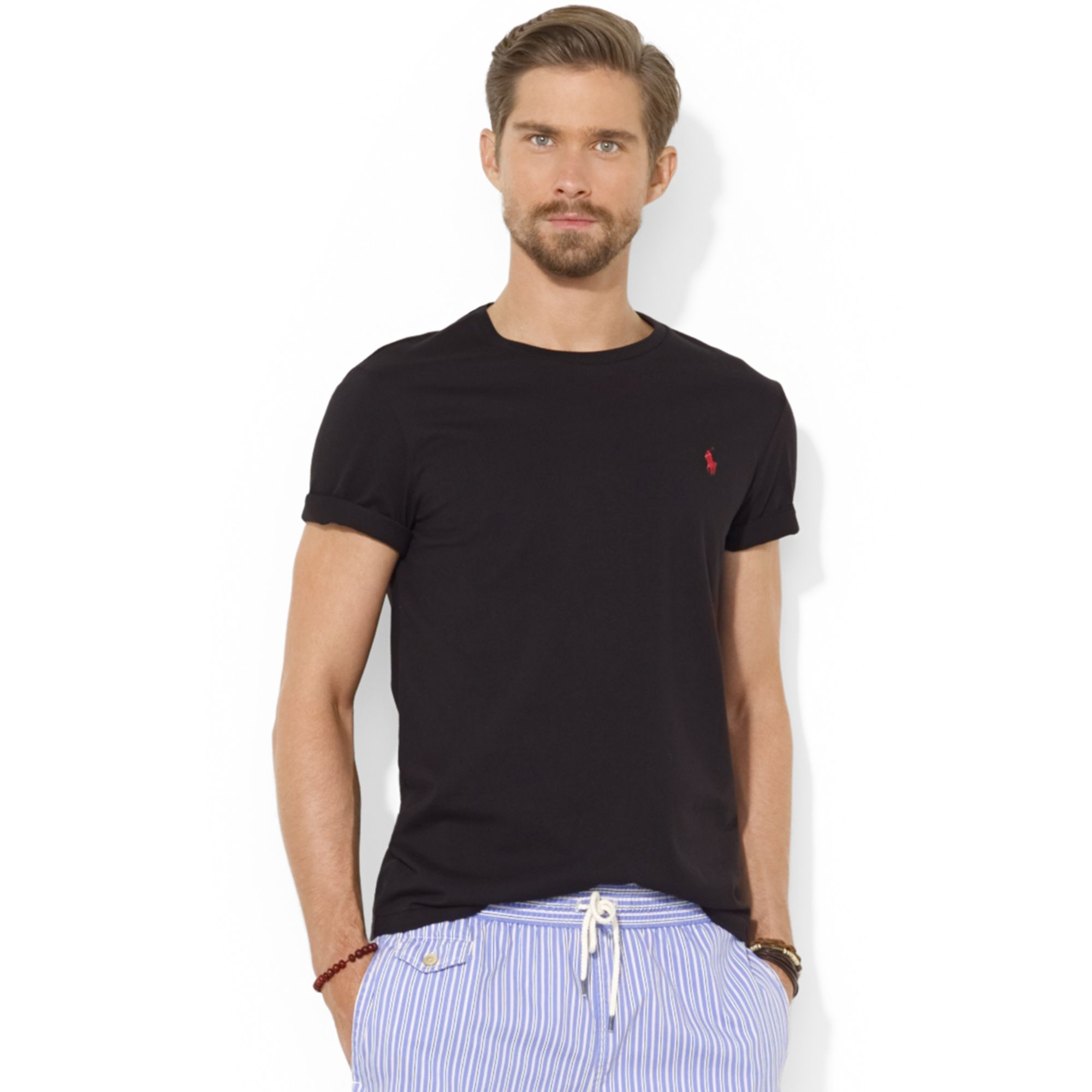 ralph lauren cotton t shirt where to buy ralph lauren. Black Bedroom Furniture Sets. Home Design Ideas