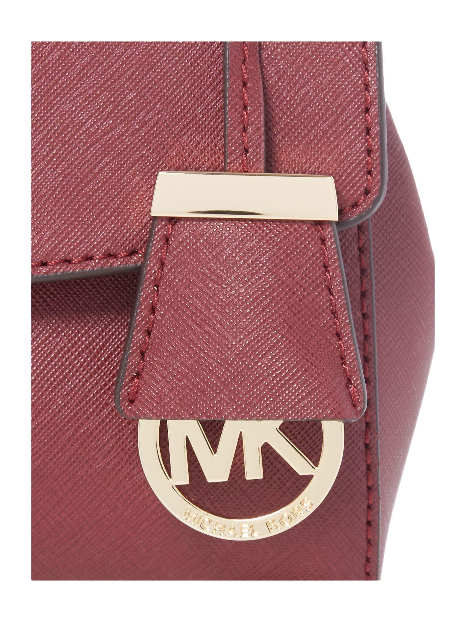 Michael kors Ava Burgundy Mini Satchel Bag in Purple | Lyst