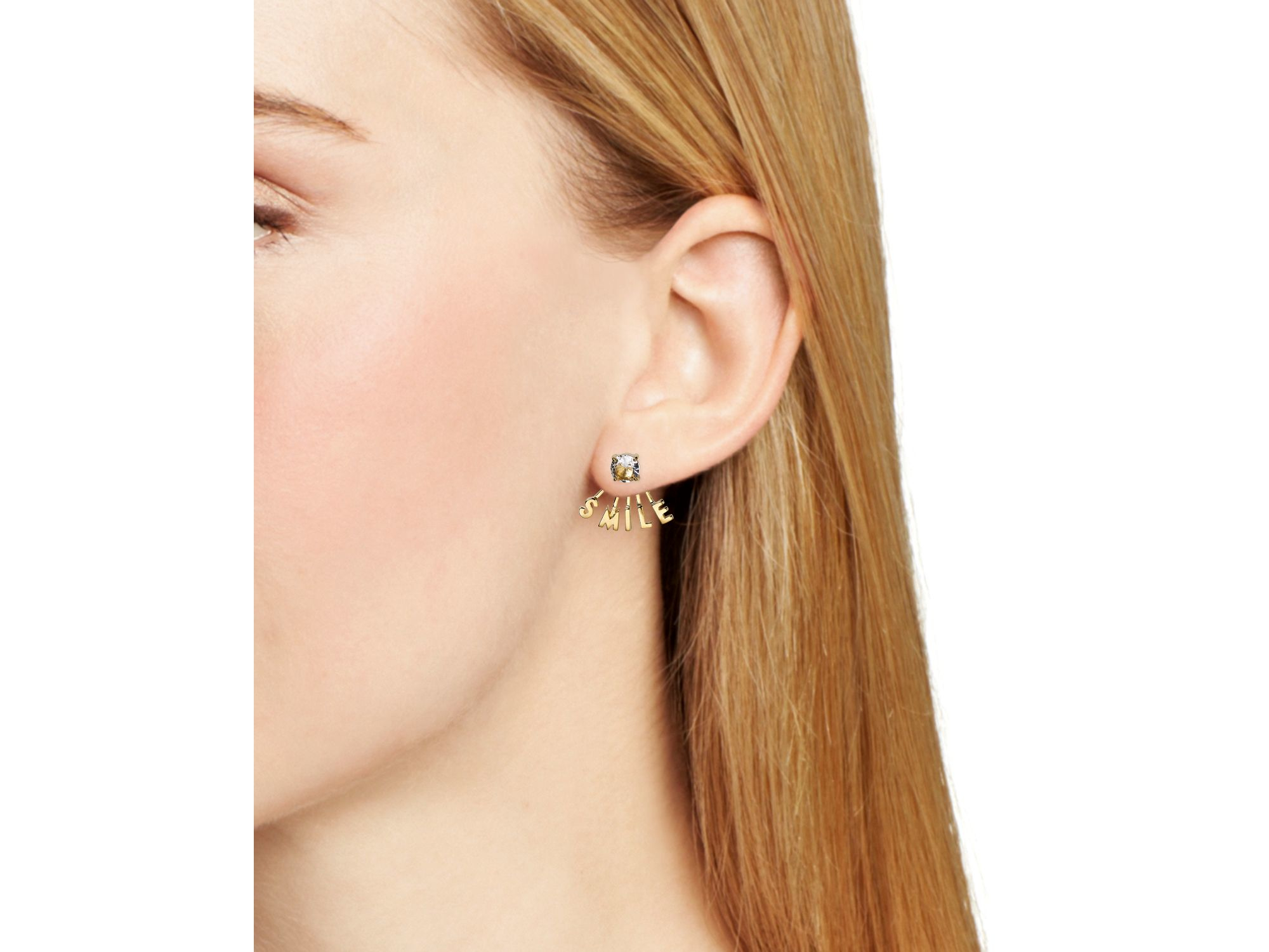 Kate Spade New York Say Yes Smile Stud Earring Ear Jacket Set Jpg 2000x1500