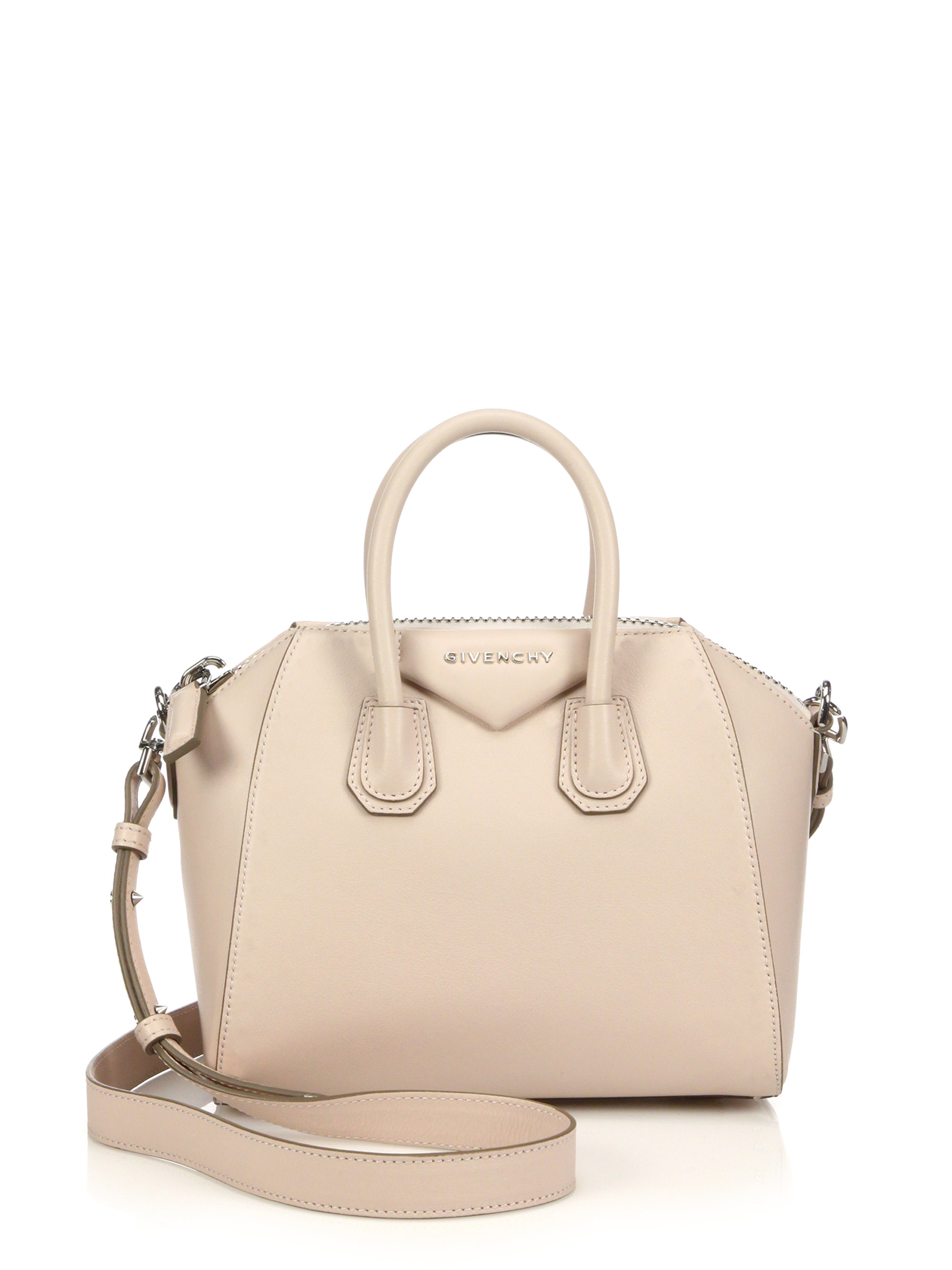 160f0fdf9543 Lyst - Givenchy Antigona Mini Leather Satchel in Natural