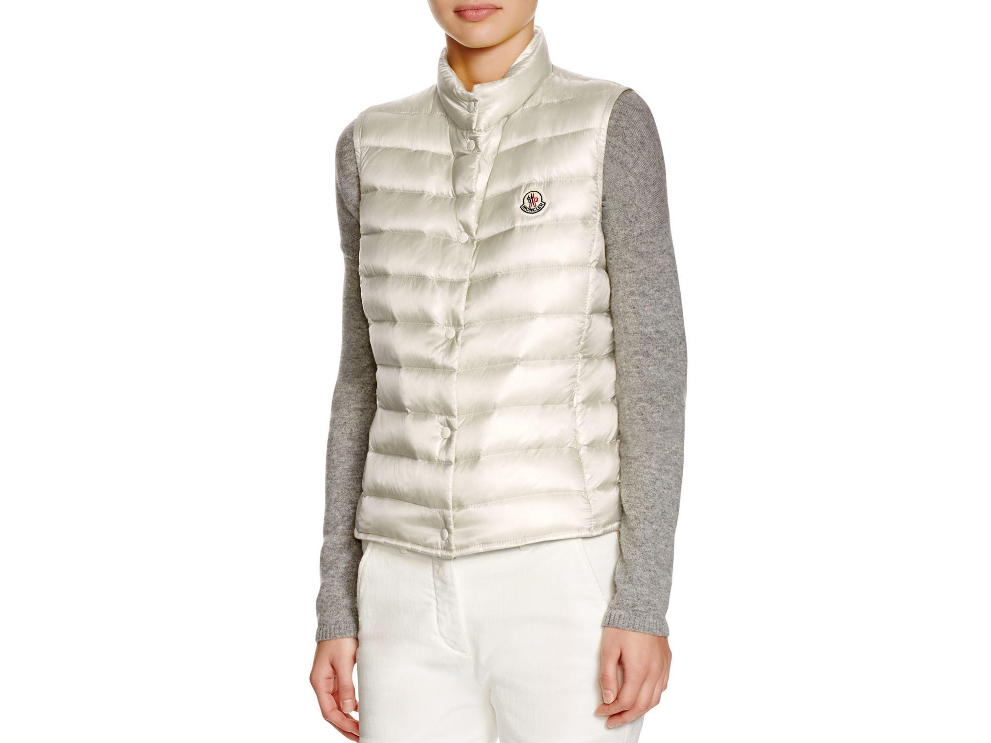 0bad7ef25547 Lyst - Moncler Liane Down Vest in White