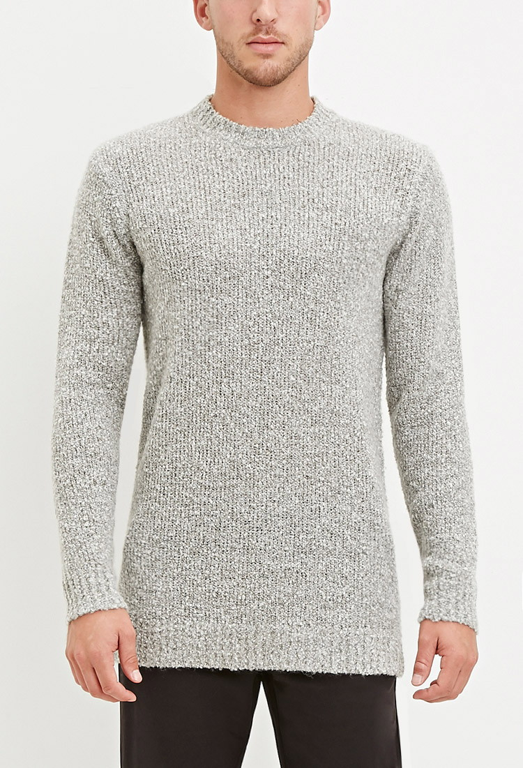 76c10d83d3729 Forever 21 Textured Loop-knit Sweater in Gray for Men - Lyst