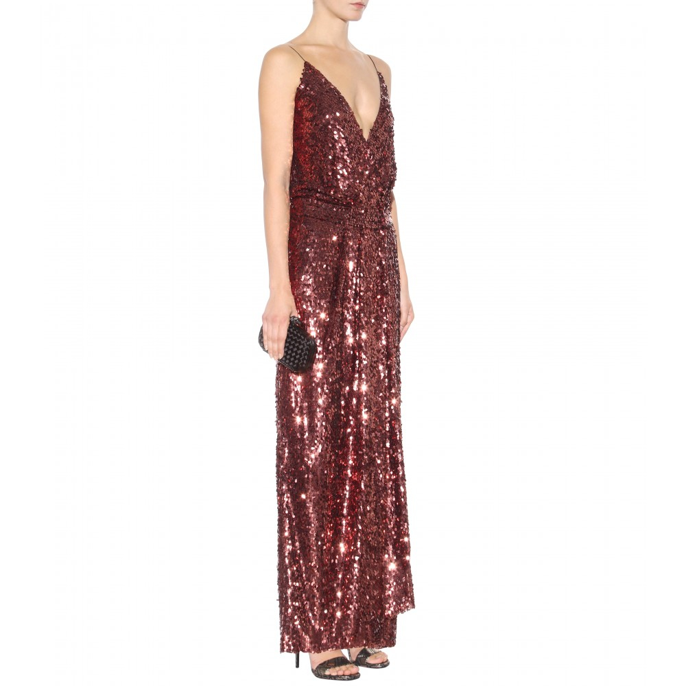 Tom Ford Sequin-Embellished Gown in Purple - Lyst