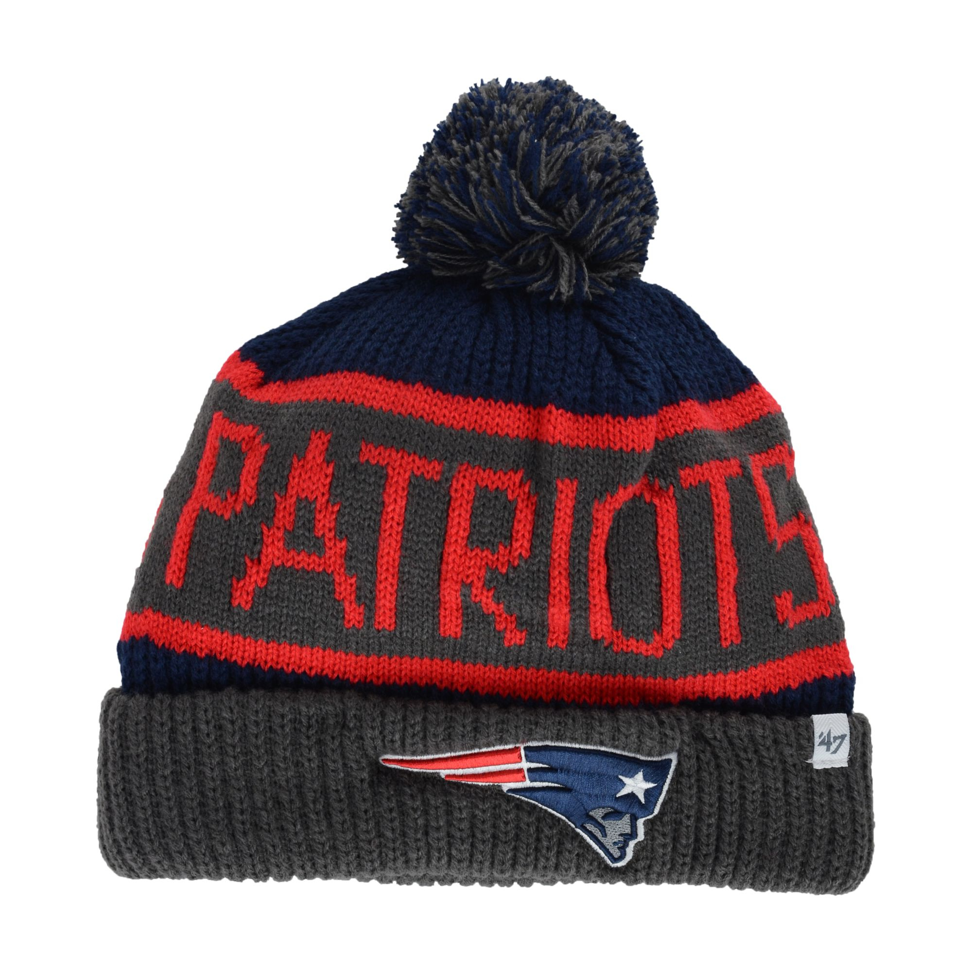 036a7c28681d3f Lyst - 47 Brand New England Patriots Calgary Knit Hat in Gray for Men