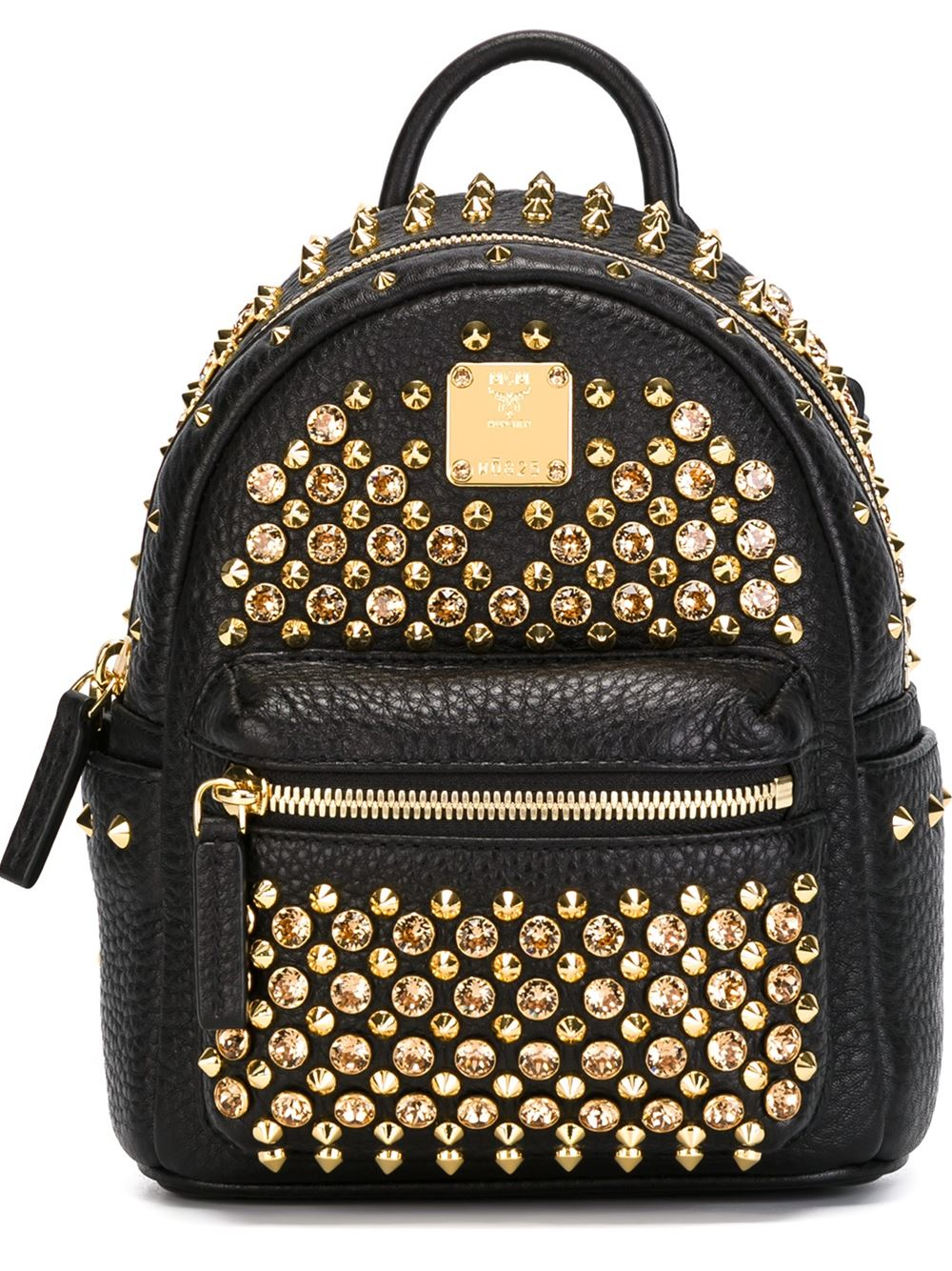 mcm mini studded backpack in black lyst. Black Bedroom Furniture Sets. Home Design Ideas