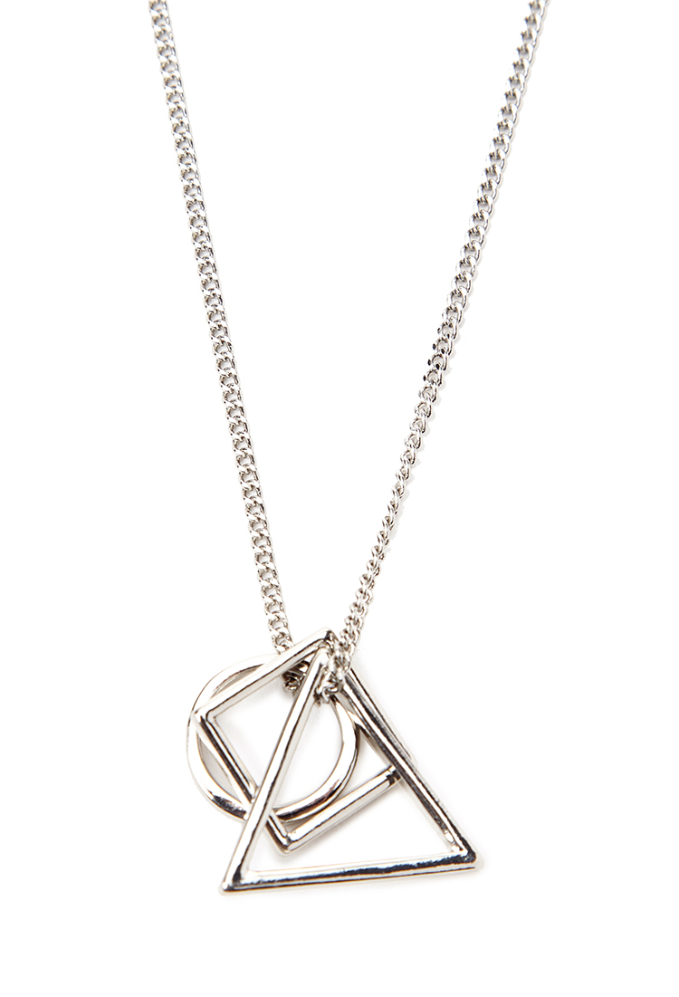 Lyst forever 21 geo shapes necklace in metallic for men gallery mozeypictures Image collections