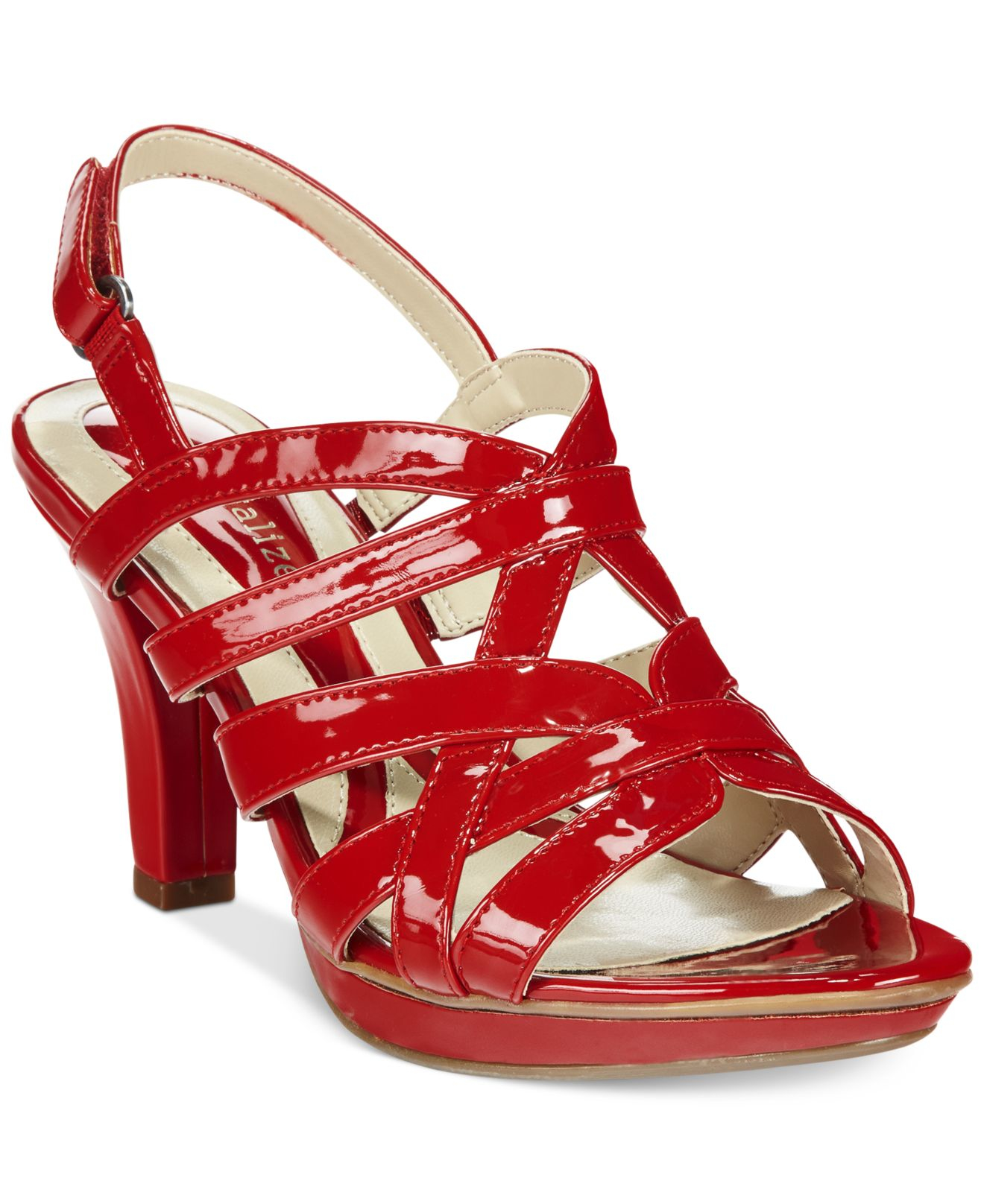 00c0203dd2fa Lyst - Naturalizer Delma Platform Dress Sandals in Red