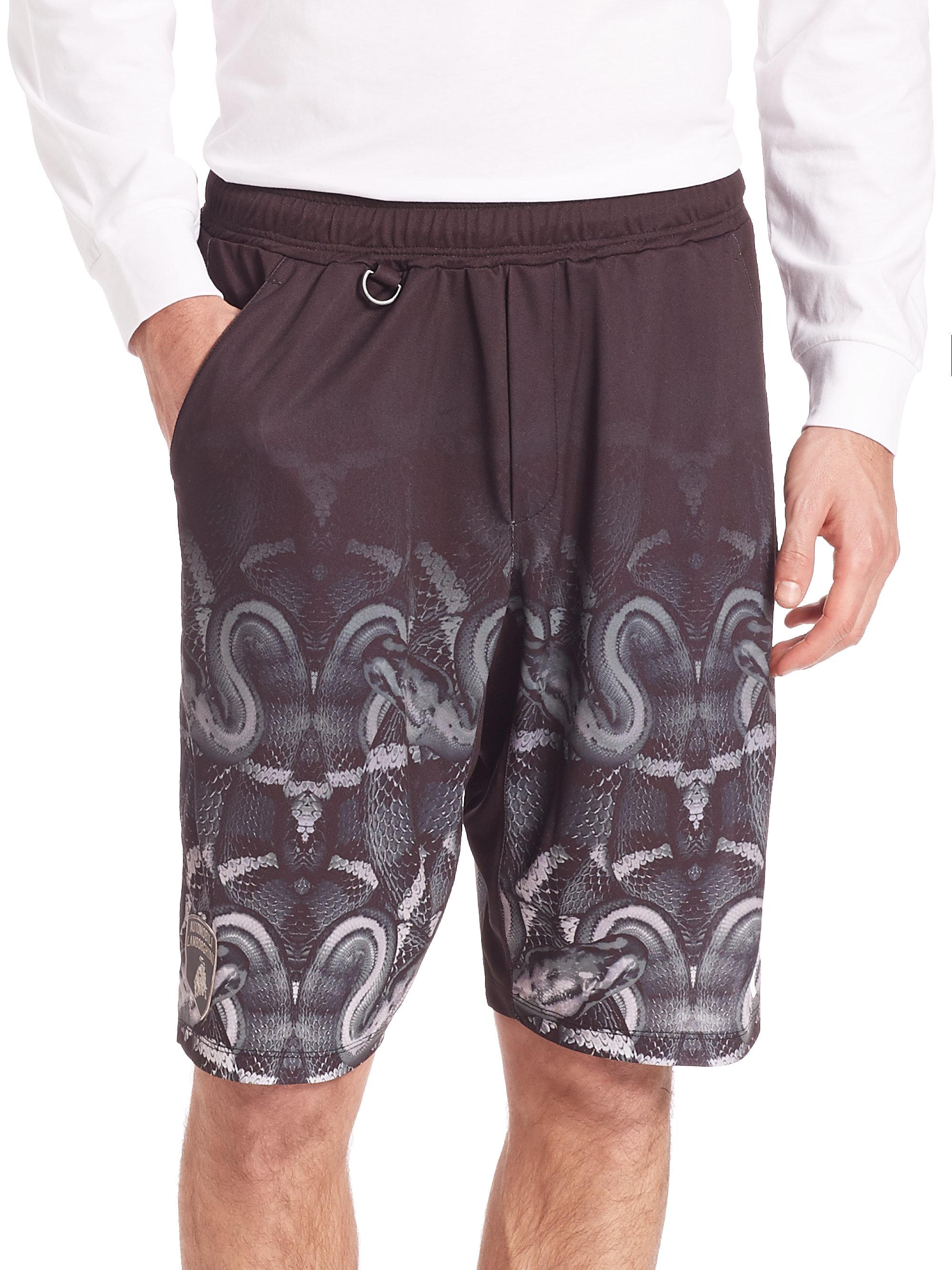 side printed track shorts - Black Marcelo Burlon qWj3J438Q