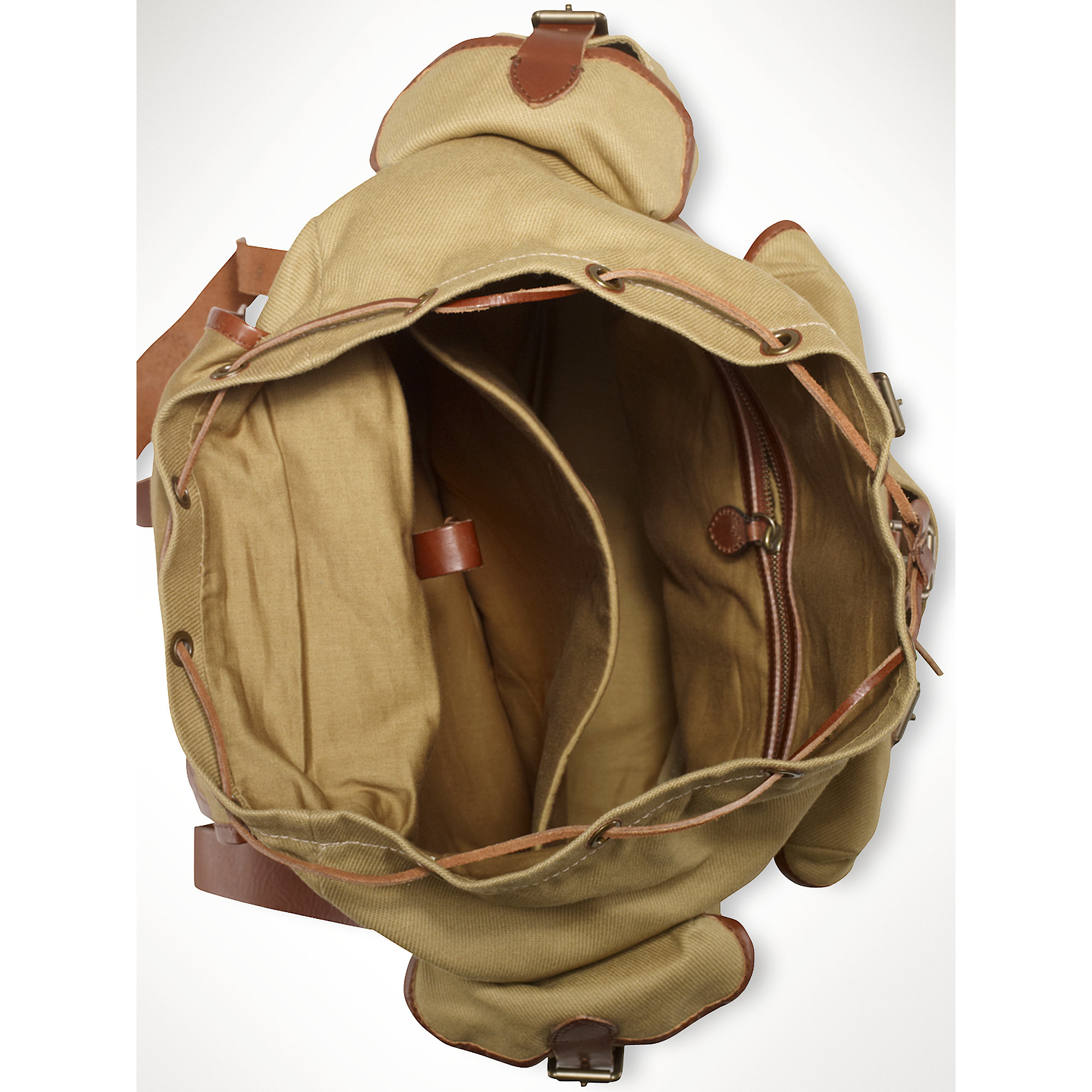 129a4cc85e80 ... lyst polo ralph lauren canvas highland backpack in natural for men ...