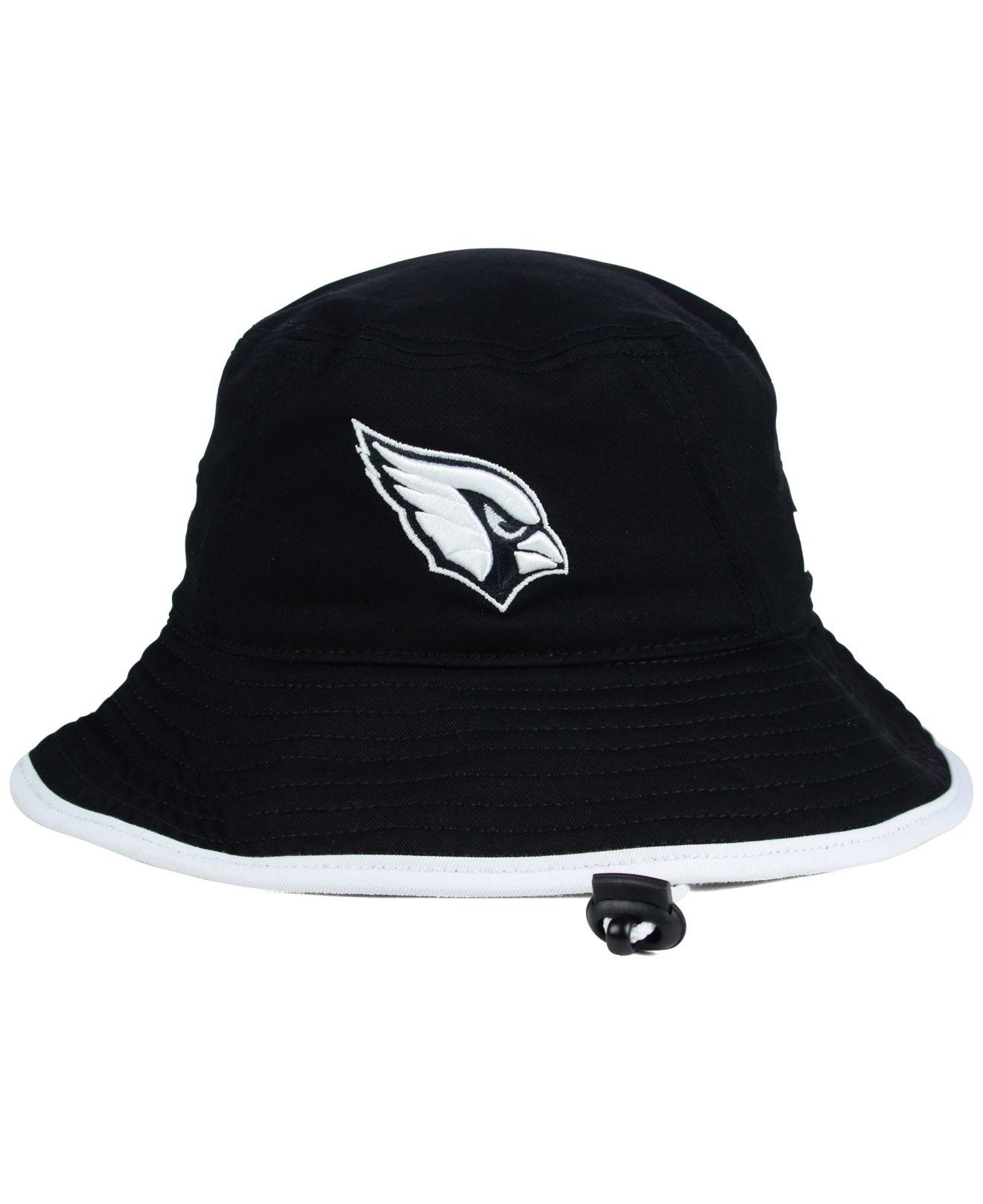 new arrival 2fc1b 6859d reduced lyst ktz arizona cardinals nfl black white bucket hat in black  db80b 4d650