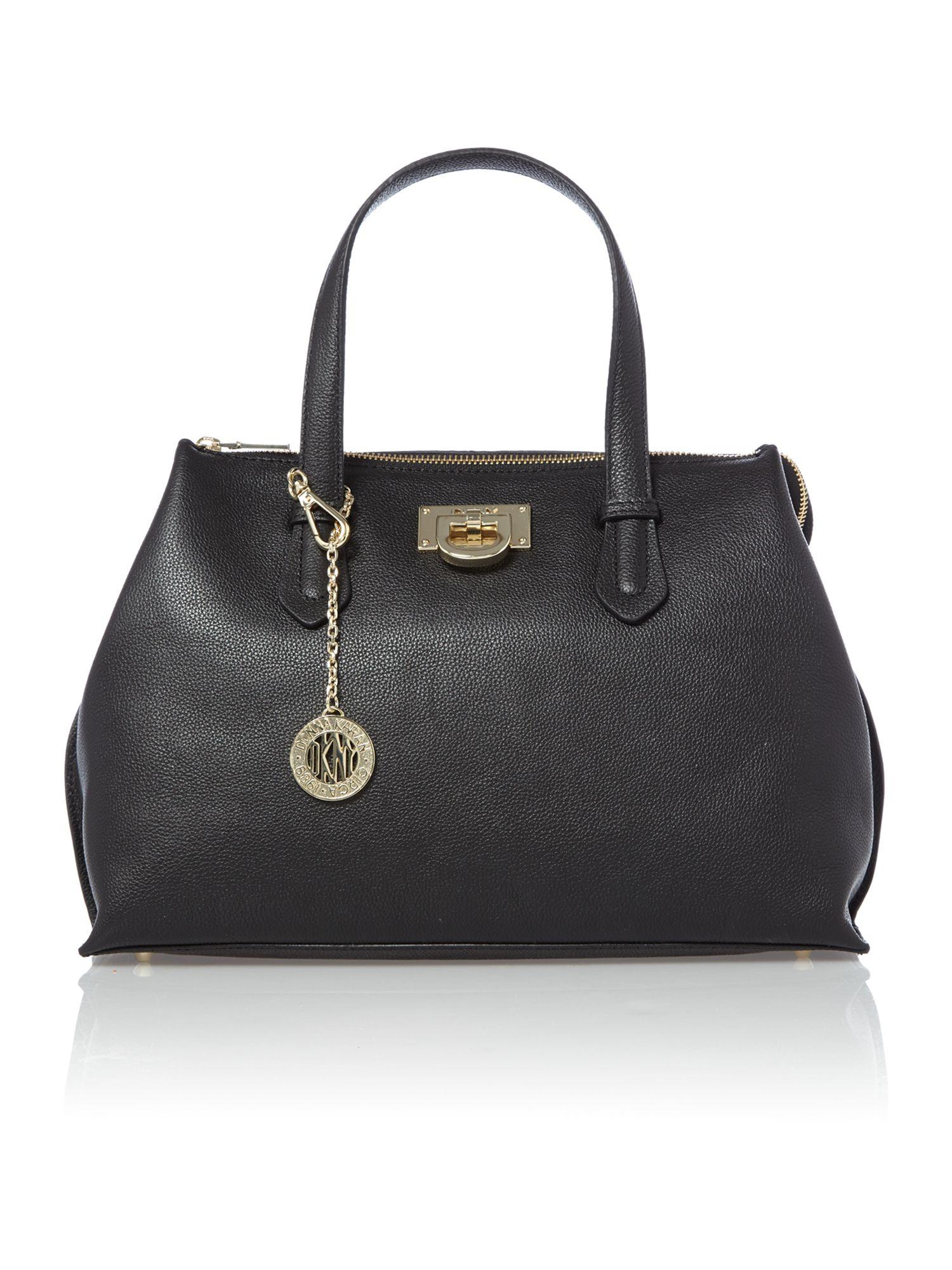 dkny chelsea black medium tote bag in black lyst