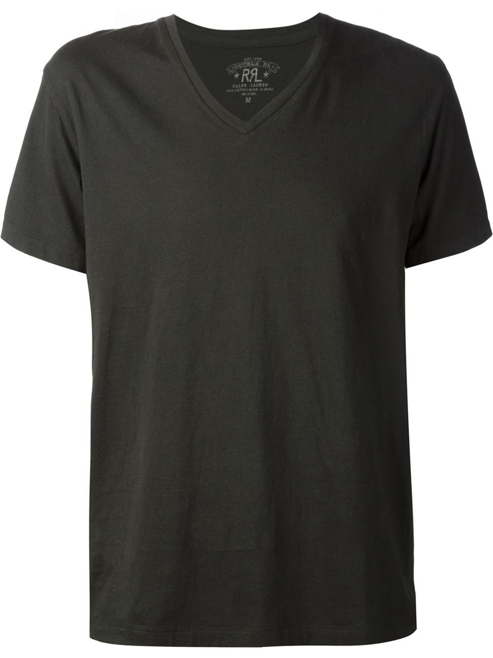Lyst rrl v neck t shirt in black for men V neck black t shirt